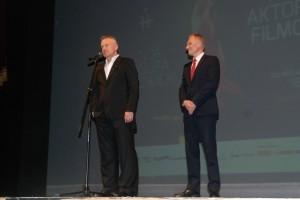 Bogusław Linda i Rafał Jurkowlaniec